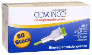 Cardimac Advance Monometer Einweglanzettiergeräte (50 Stk.)