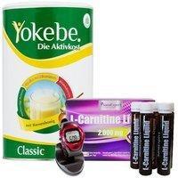 yokebe-aktivkost-classic-pulver-500-g-l-carnitine-liquid-trinkampullen-30-x-25-ml-pulsuhr-schwarz