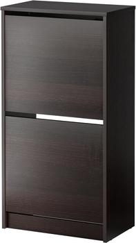 Ikea Bissa 2 Fächer schwarzbraun