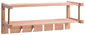 Zeller Wandgarderobe Bamboo (60 x 24 cm)