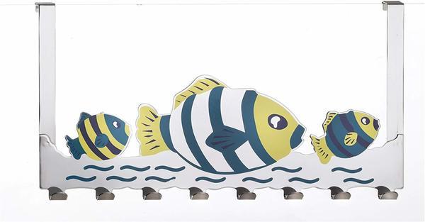 Axentia Türgarderobe Fische verchromt 40 cm 8 Haken