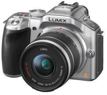 Panasonic Lumix DMC-G5K silber + 14-42mm OIS