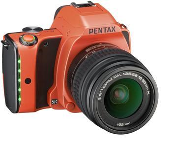 Pentax K-S1 orange + DA L 18-55mm AL