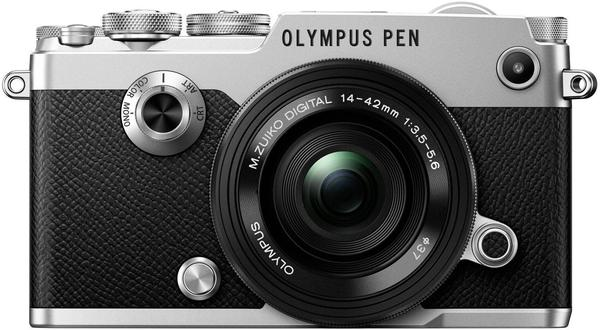 Olympus PEN-F silber + 14-42mm EZ