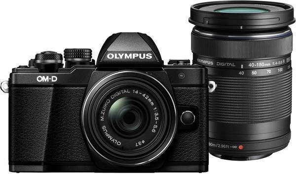 Olympus OM-D E-M10 Mark II schwarz + 14-42mm II R + 40-150mm R