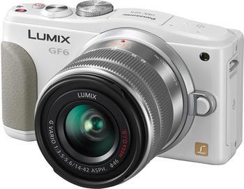 Panasonic Lumix DMC-GF6K weiß + 14-42mm II OIS