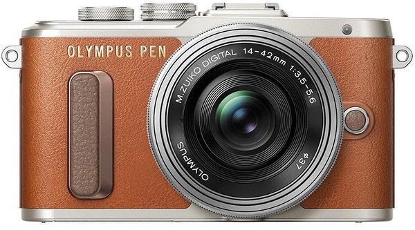 Olympus PEN E-PL8 braun + 14-42mm