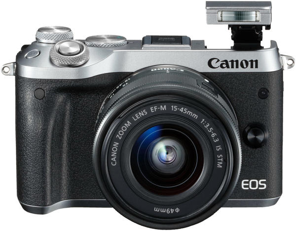 Canon EOS M6 Kit 15-45 mm silber