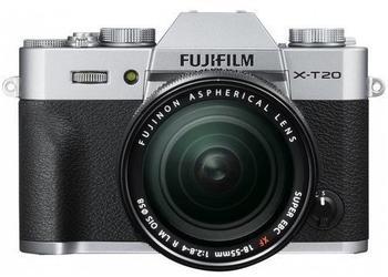 Fujifilm X-T20 silber + XF 18-55mm R LM OIS