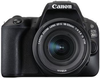 Canon EOS 200D 18-55 mm IS STM schwarz