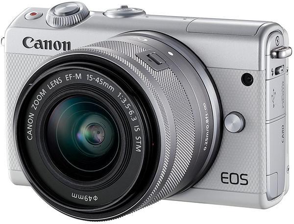 Canon EOS M100 Kit 15-45 mm weiß