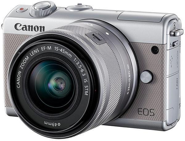 Canon EOS M100 Kit 15-45 mm grau