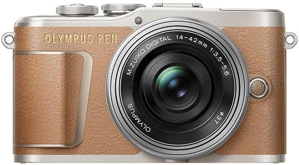 Olympus PEN E‑PL9 Kit 14-42 mm braun