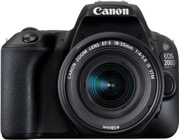 Canon EOS 200D Kit 18-135 mm IS STM schwarz