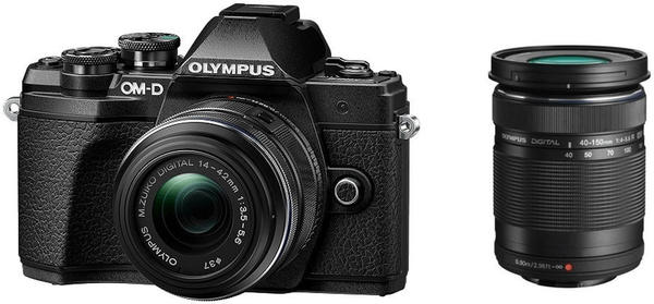 Olympus OM-D E-M10 Mark III Kit 14-42 mm II + 40-150 mm R schwarz