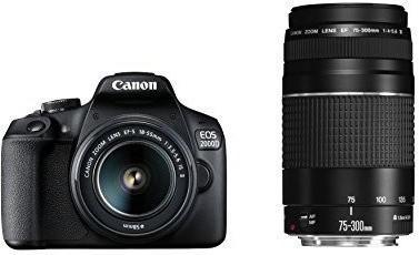 Canon EOS 2000D 18-55mm DC +75-300mm DC