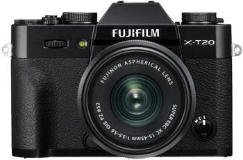 Fujifilm X-T20 Systemkamera (FUJINON XC15-45mmF3,5-5,6 OIS PZ, 24,3 MP, WLAN (Wi-Fi)) schwarz