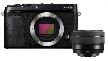 Fujifilm X-E3 Systemkamera (XC15-45mmF3.5-5.6 OIS PZ, 24,3 MP, Bluetooth, WLAN (Wi-Fi), + XC15-45mm) schwarz
