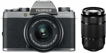 Fujifilm X-T100 silber + XC 15-45mm OIS PZ silber + XC 50-230mm OIS II