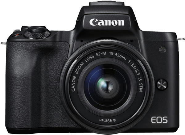 Canon EOS M50 Kit 15-45 mm + 55-200 mm schwarz