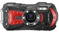 Ricoh WG-60 Digitalkamera 16 Mio. Pixel Opt. Zoom: 5 x Rot, Schwarz Wasserdicht, Staubgeschützt
