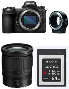 Nikon Z7 Kit 24-70 mm + FTZ Objektivadapter + XQD 64 GB