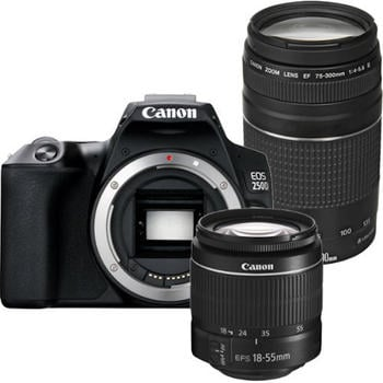 Canon EOS 250D Kit 18-55 mm DC III + 75-300 mm DC III