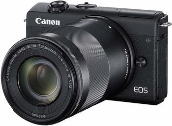 Canon EOS M200 Kit 15-45 mm + 55-200 mm schwarz