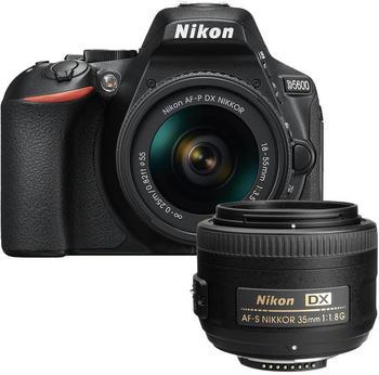 Nikon D5600 Kit 18-55 mm + 35 mm