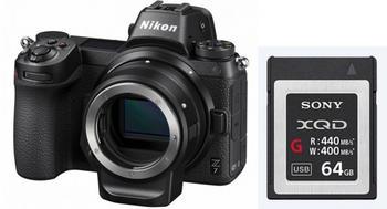 Nikon Z7 Body + FTZ Objektivadapter + XQD 64 GB