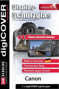 digiCover Hybrid Glas Display Schutz Canon EOS M5 M6 M50 M100