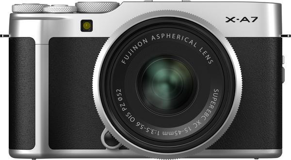 Fujifilm X-A7 Kit 15-45 mm silber