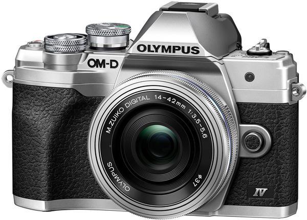 Olympus OM-D E-M10 Mark IV Kit 14-42 mm EZ silber
