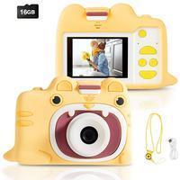 Costway Kinderkamera mit Cartoon-Schutzhülle 18MP/720P HD
