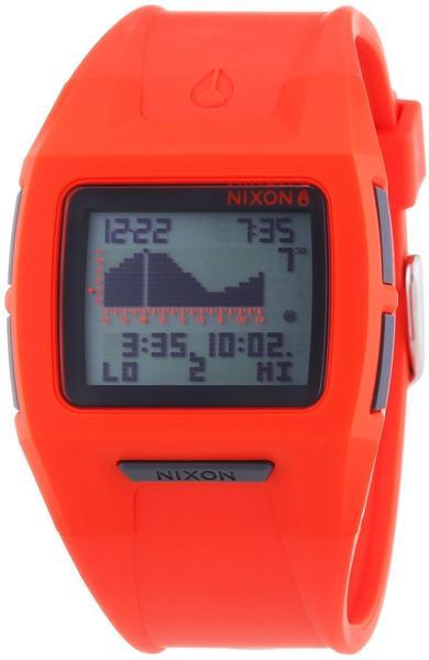Nixon Herren-Armbanduhr XL Lodown II Neon Orange Digital Quarz Plastik A2891156-00