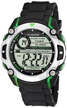 Calypso Digitale Herrenuhr Chronograph Schwarz K5577, Uhren Variante:N3