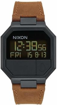 nixon-re-run-leather-brown-digitaluhr