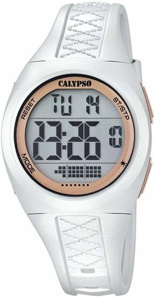 Calypso Uhr by Festina Digital Armbanduhr k5668/1 weiß Damen Datum