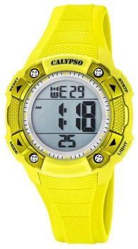 Calypso Armbanduhr Damen Digital for Woman K5728/1 Quarzuhr Pu gelb UK5728/1