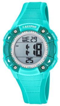 Calypso Armbanduhr Damen Digital for Woman K5728/4 Quarzuhr Pu türkis