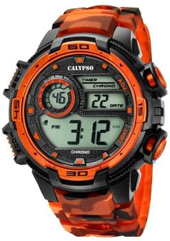 Calypso Herrenuhr K5723/5 schwarz orange Uk5723/5