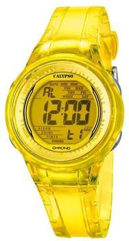 Calypso Damenarmbanduhr Quarzuhr Kunststoffuhr mit Polyurethanband Alarm-Chronograph digital K5688/6