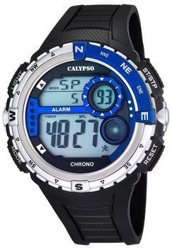 Calypso Herrenarmbanduhr Quarzuhr Kunststoffuhr mit Polyurethanband schwarz/blau K5662/3