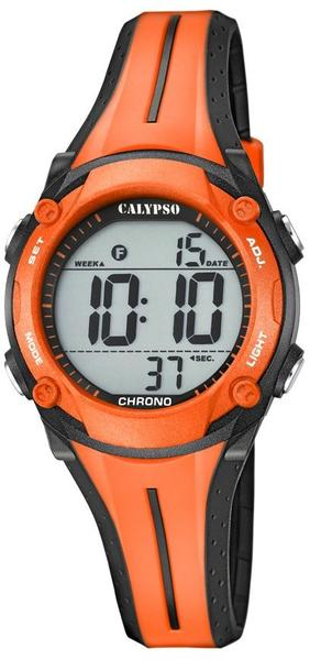 Calypso Kinderuhr Jugenduhr Digital Teenager K5682/b schwarz orange