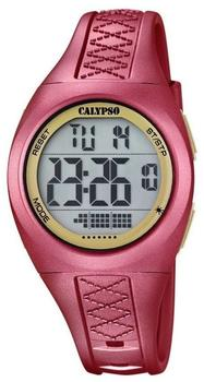 calypso-damen-herren-armbanduhr-sport-chronograph-quarz-uhr-polyurethanrot-uk56682