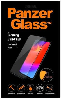 PanzerGlass Displayschutz, Schutzfolie schwarz/transparent, Samsung Galaxy A80