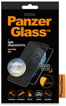 PanzerGlass Privacy CamSlider für iPhone 11 Pro/Xs/X | Black | 3D-Touch