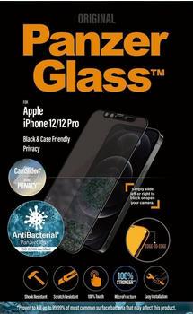 PanzerGlass Black & Case Friendly Privacy iPhone 12/12 Pro
