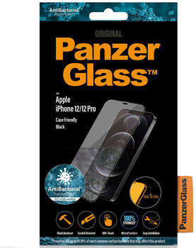 PanzerGlass Case Friendly Black iPhone 12/12 Pro (2720)
