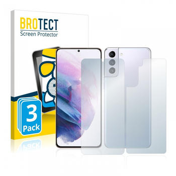BROTECT AirGlass Matte Panzerglasfolie für Samsung Galaxy S21 Plus 5G (Vorder + Rückseite) 3x
